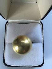 Vintage Hans Hansen (Denmark) Dome Sterling and Vermeil Ring, size 6.5