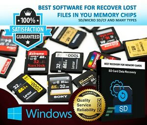 DATA RECOVERY SOFTWARE RECOVER LOST FILES FROM MEMORY CARD/CHIPS/SD LIFETIME