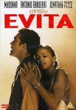 EVITA - Madonna Antonio Banderas Alan Parker REGION 2 BRAND NEW UK REGION 2 DVD