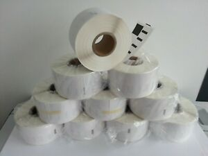 10 rolls of Dymo Compatible 99012 Direct Thermal Labels, 36x89mm, 260/roll