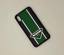Prada Logo Graces Iphone XS MAX Hard Case, Green, New In Box, RRP $219 USD