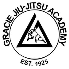 "Gracie Jiu-Jitsu Academy Decal ""Sticker"" for Car or Truck or Laptop"