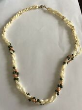 Sead Pearls And Coral Jade Necklace