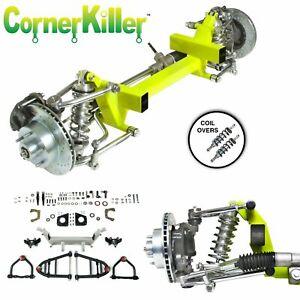 """46-54 Willys Truck CornerKiller IFS Coil Over 2"""" Drop 5x5 Power LHD rack"""