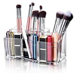 Acrylic Makeup Organizer Cosmetic Storage Brush Holder Set Makeup Brush Storage