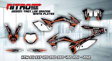 KTM Graphics Kit Décalque Design Stickers SX SXF 125 250 350 450 2011 2012 11 12 MX