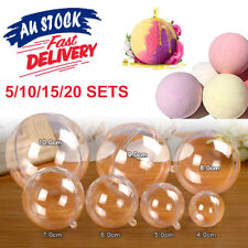 Bath Bomb Mold Round Ball Clear DIY Mould Cake Plastic craft Hanging xmas