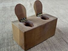 VTG Primitive Miniature Double Potty * Toilet Chair Handcrafted Wood