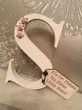 Cassettiera in legno personalizzati lettera nuovo bambino o sorella regalo 💖