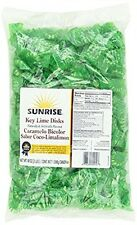 Sunrise Confections Key Disks Hard Candy, Lime, 3Pound