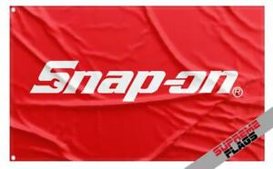 Snap-on Flag Banner (3x5 ft) American Tools Products Wall Garage Red