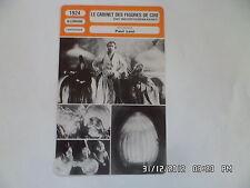 CARTE FICHE CINEMA 1924 LE CABINET DES FIGURES DE CIRE Wihelm Dieterle