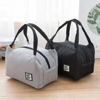 Women Kids Insulated Canvas Box Thermal Cooler Food Lunch Bags Solid Sport Tools