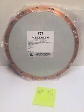 "MATERION Microelectronics 10"" Bonding CS Si3N4 SPUTTER PLATE,TARGET w/ Box"
