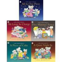 Jill Murphy Large Family 5 Books Set A Quiet Night in, A Piece of Cake Pack NEW