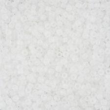 Toho Taglia 8/0 (3mm) seme perline trasparenti arcobaleno cristallo satinato 10g (l42/3)