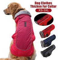 Pet Dog Clothes Fleece Lined Jacket Winter Warm Coat Waterproof Reflective Vest