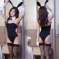 1Set Bunny Girl Role Play Costumes Classic Bunny Suit Uniform Sexy LingeriPBBJH