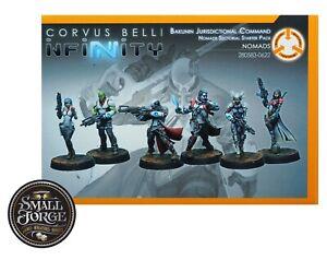 NOMADS SECTORIAL STARTER PACK, 6 Miniatures, Corvus Belli Infinity Code, NEW