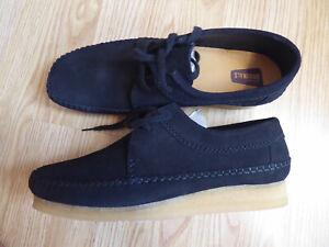 Clarks Originals WEAVER Black Suede UK 12 EU 47 NEW schwarz Herren Schuhe