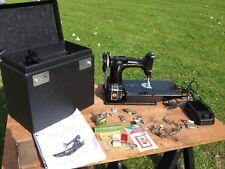 Vintage 1949 Singer Featherweight 221 Sewing Machine Case Attachments Excellent