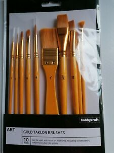 Golden Taklon Brush Set 10 Pack