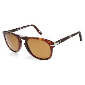 NWT Persol Sunglasses PO 714 24/57 Havana Foldable / Polarized Brown 54mm NIB