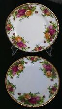 Royal Albert Old Country Roses Bread & Butter Plates LOT 2 Vintage England 1962