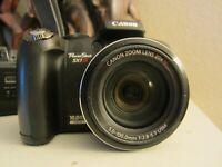 Canon PowerShot SX1 IS 10.0MP Digital Camera - Black(parts or repair)