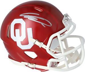 Ceedee Lamb Oklahoma Sooners Autographed Riddell Speed Mini Helmet