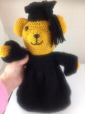 Unique Graduation Gift, Teddy Bear W/Cap & Gown, Handmade Ages 3+