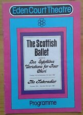 The Scottish Ballet programme Eden Court Theatre 1981 The Nutcracker Cheri