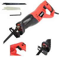 Moss 900W 230V Reciprocating Saw 2 Blades Wood Metal Cutting Recip