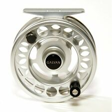 GALVAN RUSH LIGHT LT R-5 FLY REEL CLEAR SILVER 5/6 WT ROD USA MADE FREE $50 LINE