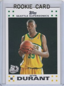 KEVIN DURANT ROOKIE CARD 2007 Topps Basketball RARE FACTORY WHITE SET $$ MINT RC