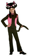 VINTAGE 50'S KITTY BLACK CAT CHILD HALLOWEEN COSTUME GIRL'S SIZE MEDIUM 7-10