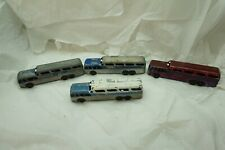 Vintage Tootsietoy Bus Greyhound Scenicruiser Lot Of 4 Parts Repair Tootsie Toy