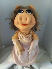 Vintage Miss Piggy Hand Puppet 1977 Fisher Price Jim Henson Muppets