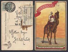 CARTOLINA Coloniale 1927 da Nalut a Bressanone (FILT) I Gruppo Sahariano
