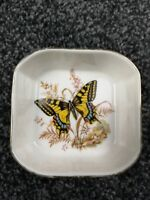 Hornsea pottery Country Scene Butterfly pin dish, vintage, nice condition