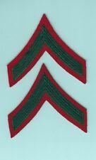 Marine Rank Chevron: VN era Private First Class, red felt (pair)