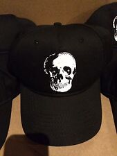 Mossimo Halloween Black Skull Baseball Hat With LED Light Up Eyes New