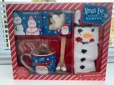 christmas eve box luxury hamper hot chocolate, socks mug cookie stirrer mallows