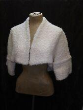 New listing Vintage 1940's 50's White Lambswool Short Bolero Coat Size Small