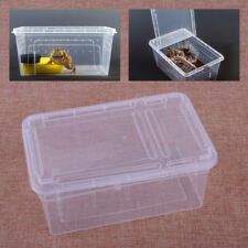 "7.5""x5"" Clear Plastic Cage Insect Spider Snake Reptile Breeding Feeding Case Box"