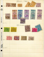 Ceylon Stamps Nice Lot of 22 Revenues