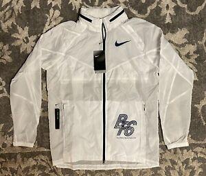 Nike Blue Ribbon Sports Running Jacket White Blue Mens Sz Medium BV0191-100 NEW!