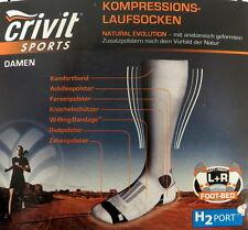Crivit Damen Kompression Strümpfe Kompression Socken H2Port  Gr. 39-40 NEU