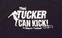 "RAVENS TEE SHIRT ""That Tucker Can Kick"" JUSTIN Rare Black T-Shirt Mens Large/L"
