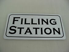 FILLING STATION Metal Sign Motorcycle Car Shop Garage Ford Chevy Gas Pump